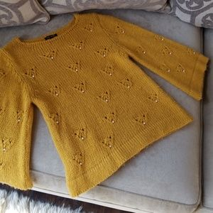 River Island Bell 3/4 Sleeve Knit Jumper